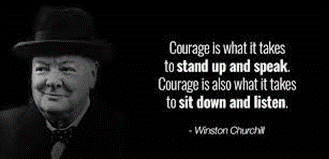 Three must have traits for courageous leadership.