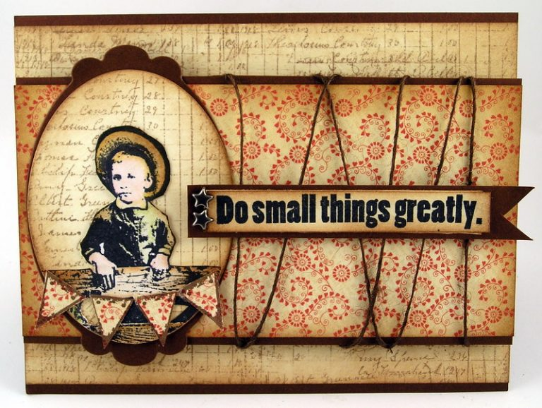 DO SMALL THINGS GREATLY